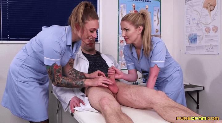 PureCFNM – Ava Austen , Georgie Lyall – Foreskin Practice